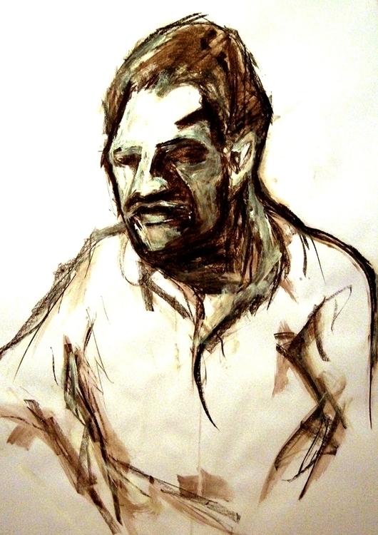 drawing, sepia - vuja90 | ello