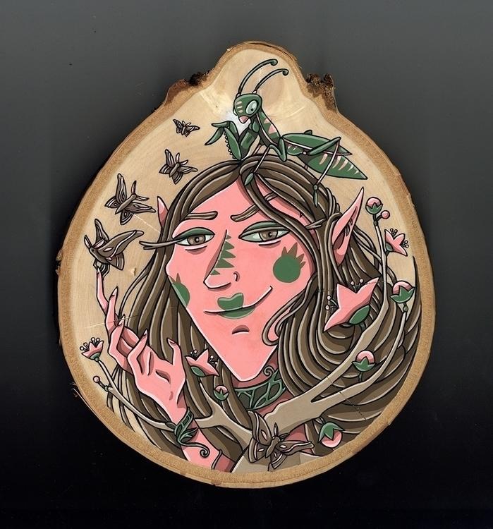 Insect Spirit, gouache wood - illustration - sagecotignola | ello