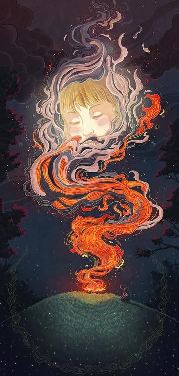 Personal work - Grave Fireflies - kiwifruitbird | ello