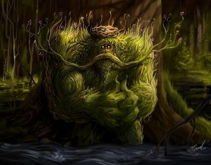 Swamp - illustration, conceptart - johnoconnell-1072 | ello