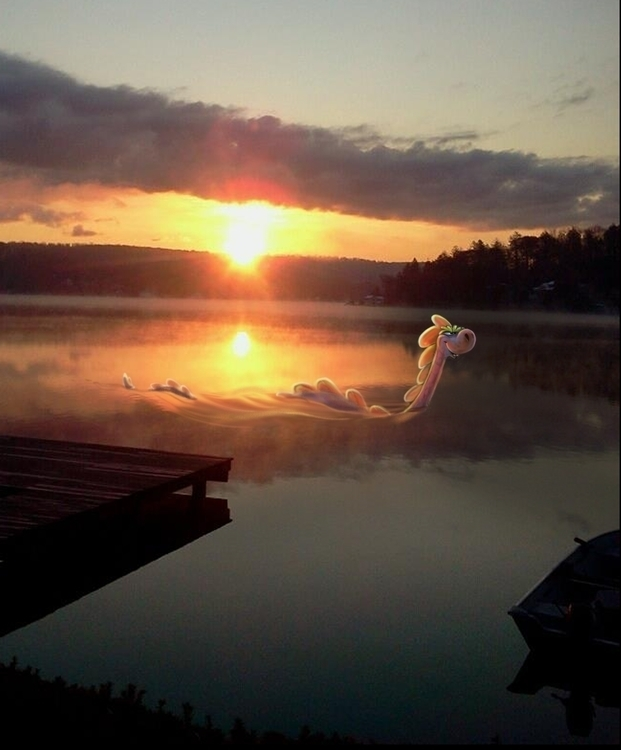Photo merge. Lake Monster - johnoconnell-1072   ello