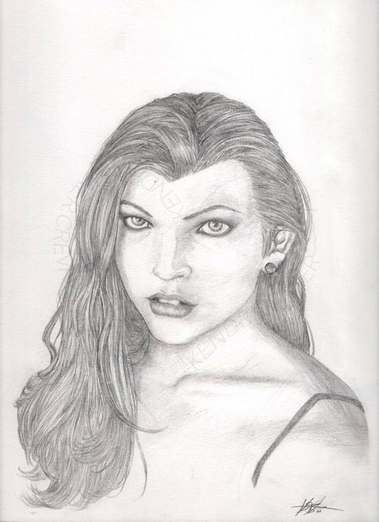 Milla Jovovich, unpaid Portrait - kendra-5062 | ello
