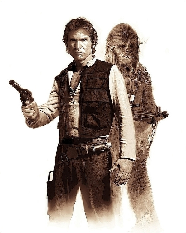 Han Solo Chewbacca.Cover comp.  - themarkdesign | ello