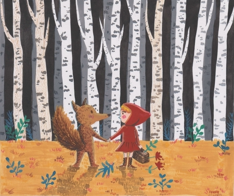 illustration, wolf, redridinghood - mingsiew | ello
