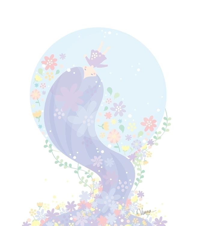 Dream Flowers - flowers, illustration - viannavalentina | ello