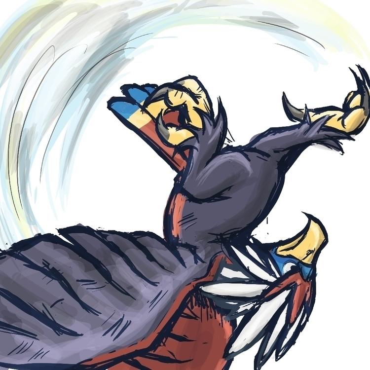Braviary Flash Kick: 'mon fight - bunnybird-1423 | ello