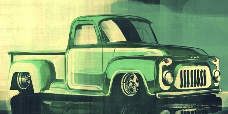 Gaz Custom pickup - automotive, digitalart - petrolhead1992 | ello