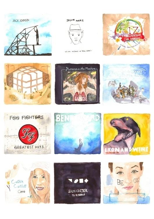 ink, watercolour, music, albumcover - whistlingbear   ello