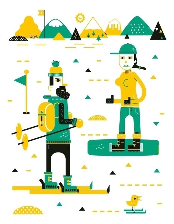 ski - vector, illustration - schnuppe | ello