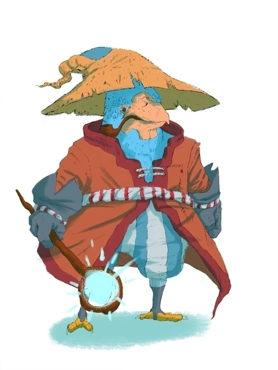 Chicken wizard - art, digitalart - iamjustino | ello