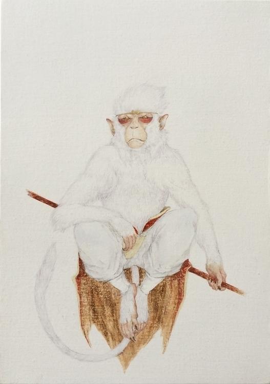 Sun wukong - painting, oil, animal - ayumiinagaki | ello