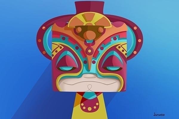 mask - illustration, characterdesign - juanco-1165 | ello