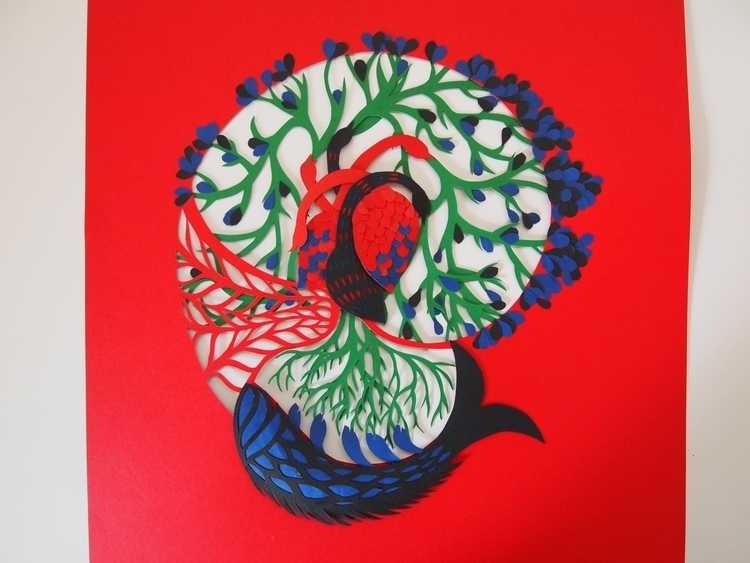'Gond' art inspired paper cut - illustration - janakilele | ello