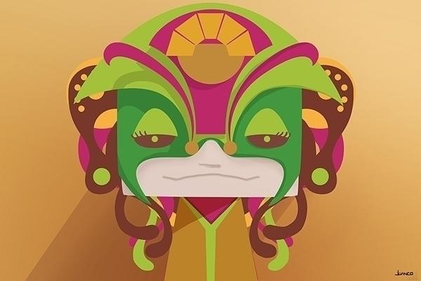 mask - digitalart, graphicdesign - juanco-1165 | ello