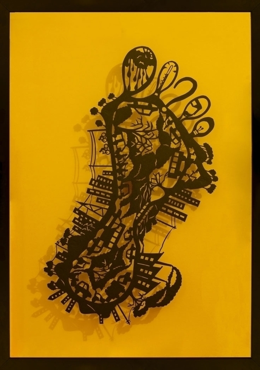 Carbon Footprint - paperart, papercut - janakilele | ello
