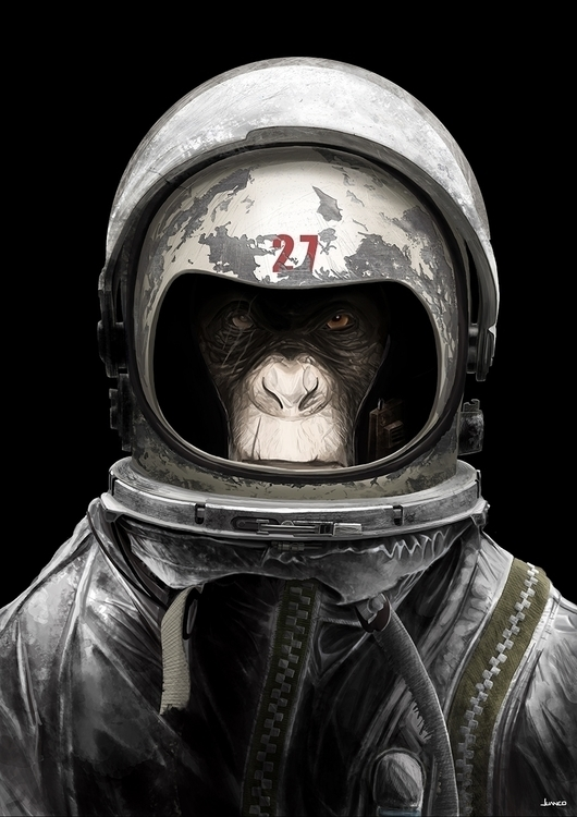 space monkey - characterdesign, character - juanco-1165 | ello