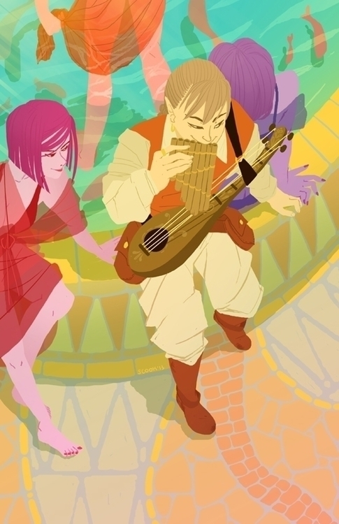 elf-themed pieces zine - illustration - scookart | ello