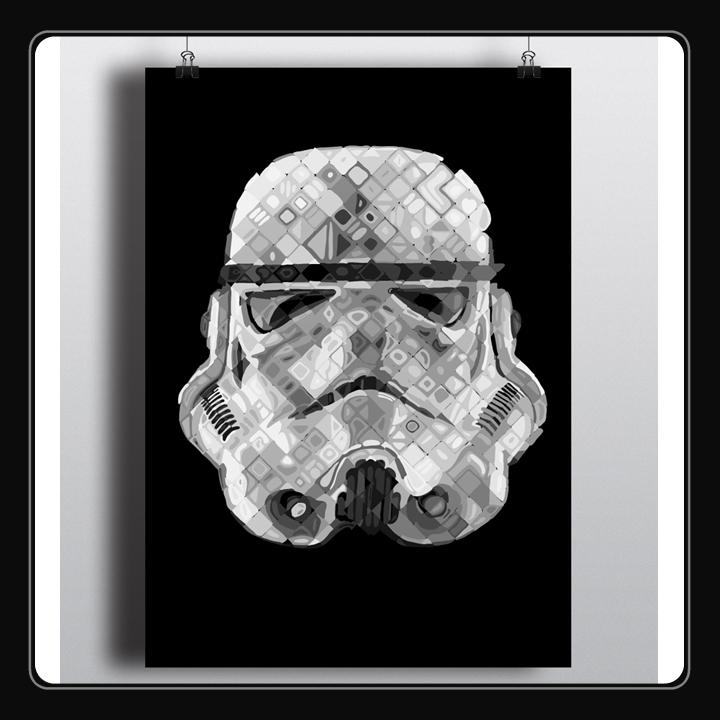 Stormtrooper portrait inspired  - dkelmer | ello