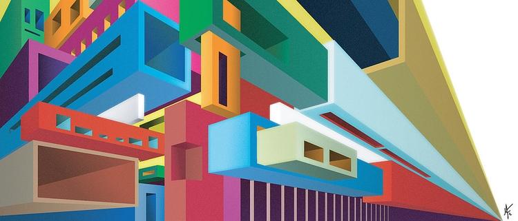 Perspectives O1 - ilustracion, illustration - mauriciofreeze | ello