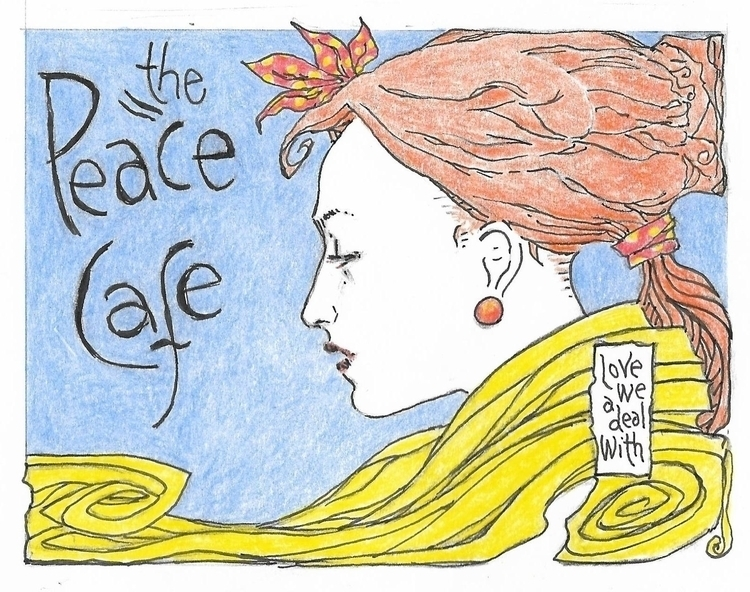 Cafe Peace - poster, Woman, Love - philmac-1244 | ello