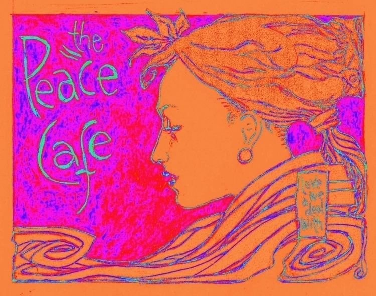 Cafe Peace Dub - Poster, peace, Drawing - philmac-1244 | ello