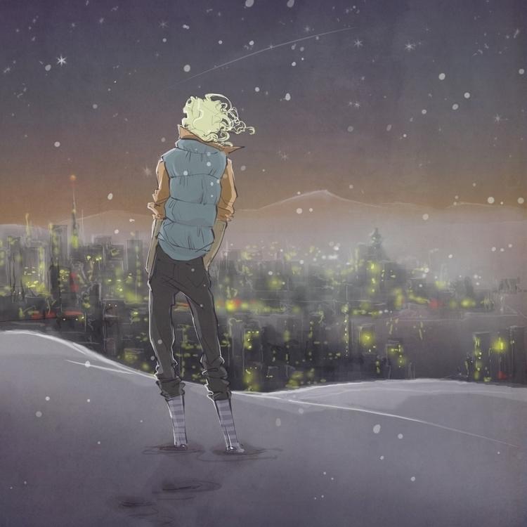 winter, manga, character - kiiouraha | ello
