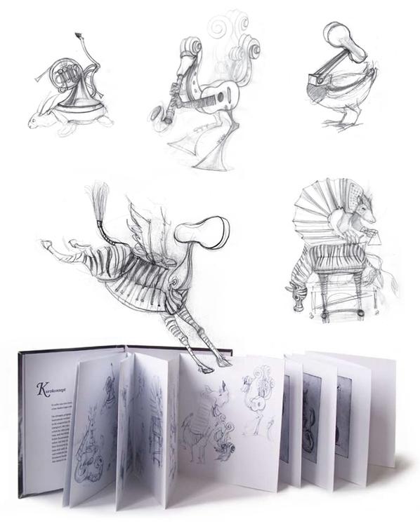 Musical Creatures | Sketches - illustration - liovamilla | ello