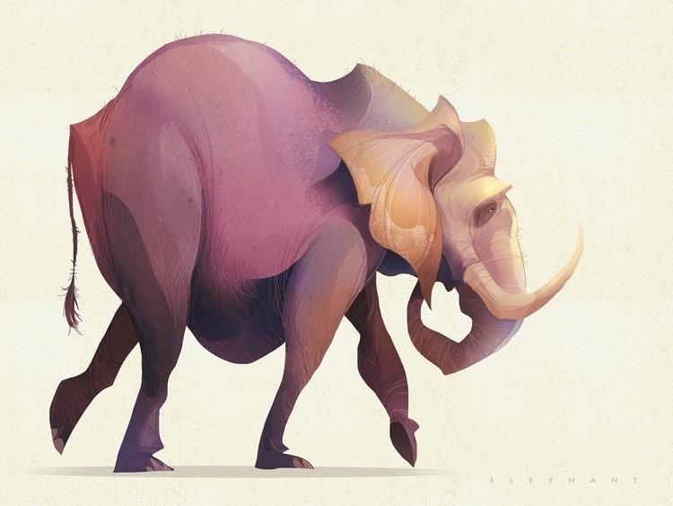 elephant, animal, card, dance - cynthiaxing | ello