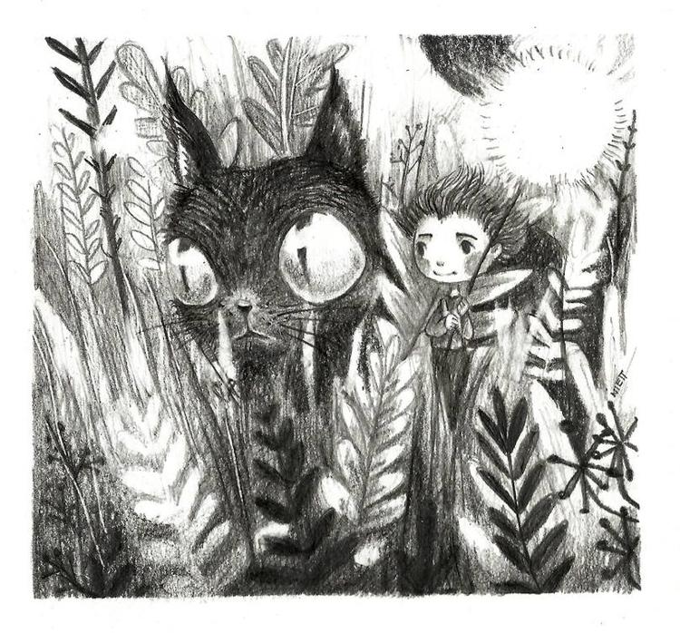 illustration, drawing, cat, children'sillustration - saraniett | ello