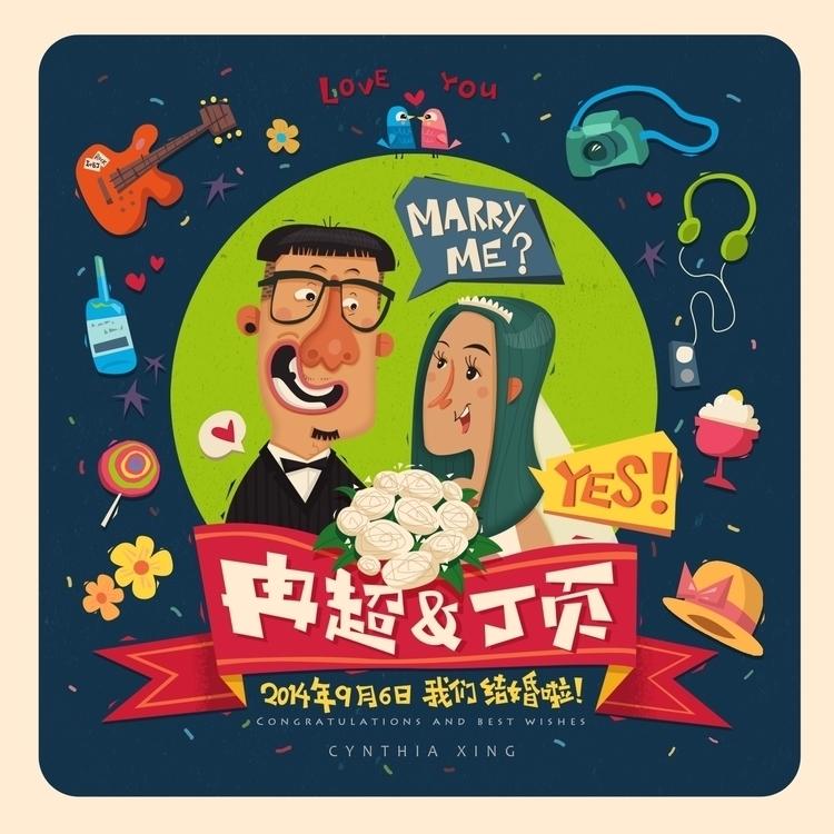wedding, card, wife, sticker - cynthiaxing | ello