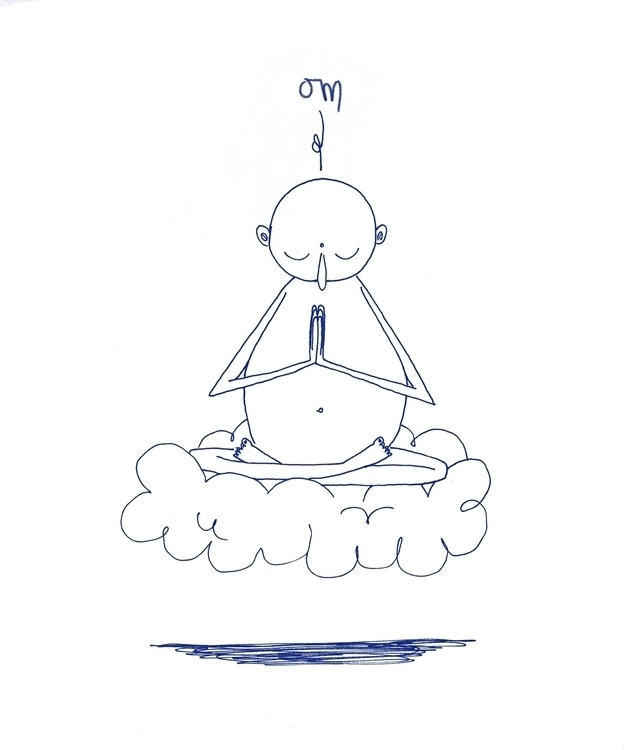 Om - sketchbook, buddha - cpowell-1234   ello