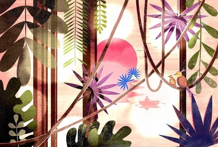 Jungle - Print - illustration, graphicdesign - mathildaholmqvist | ello
