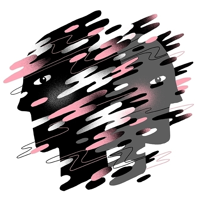illustration, faces, fog, twins - stephaniekubo-8873 | ello