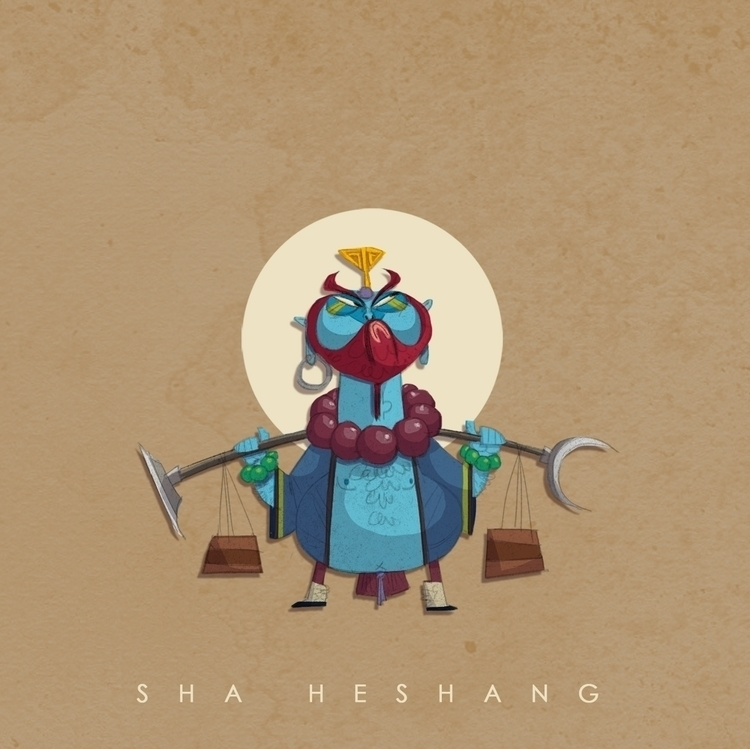 monksha, monkeyking, illustration - cynthiaxing | ello