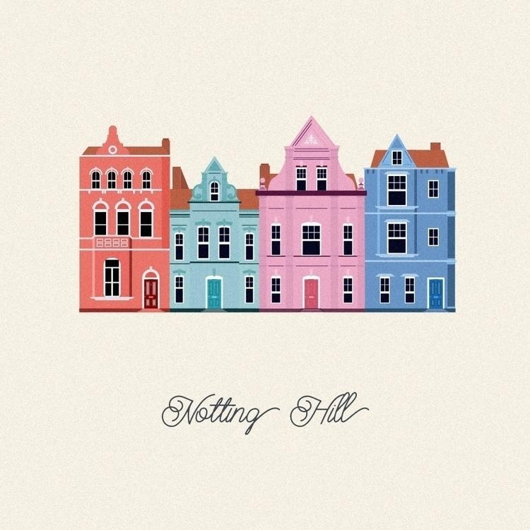 Vector Cities. Notting Hill - illustration - gloriaciceri | ello