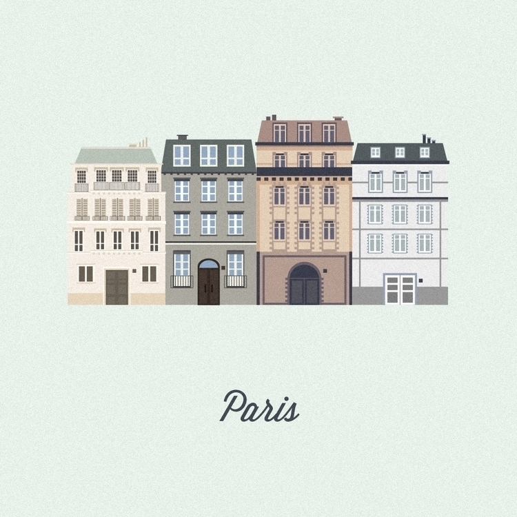 Vector Cities. Paris - illustration - gloriaciceri | ello
