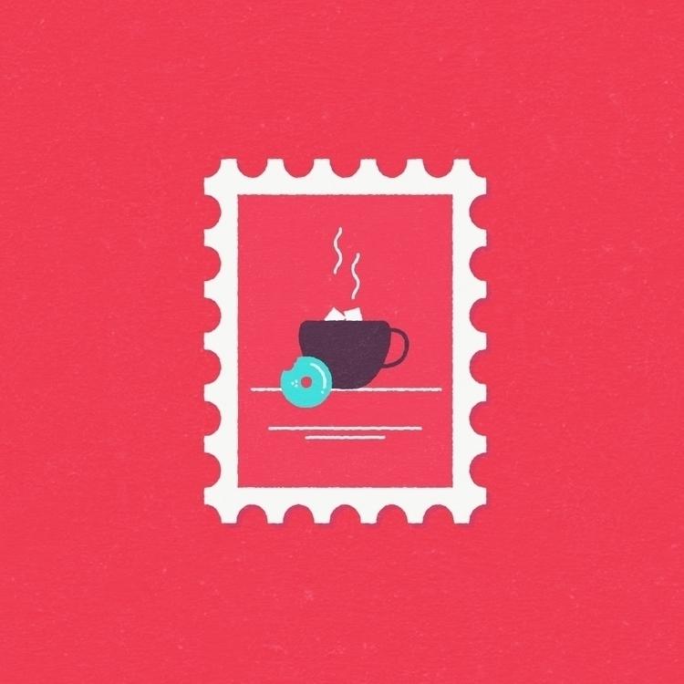 Coffe Stamp Berlin - illustration - gloriaciceri | ello
