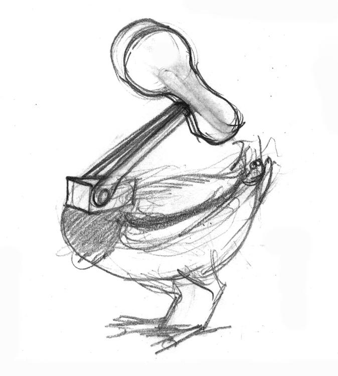 Ente | Sketch - music, sketch, creature - liovamilla | ello