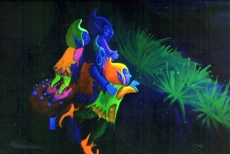 detail bigger wallpainting fluo - mischanaaraat | ello