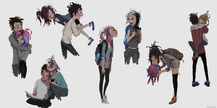 Character doodles ?#?apaintinge - zacretz   ello