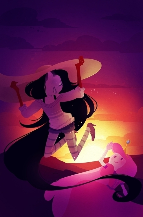 cover boom - illustration, adventuretime - mayakern | ello
