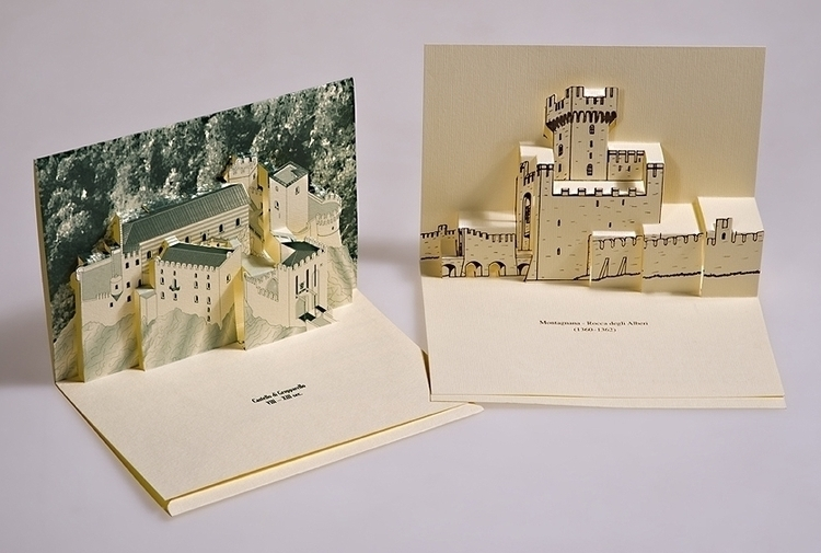 Italian castles - 3d, popup, 3dpopup - giovannirussografico-1091 | ello