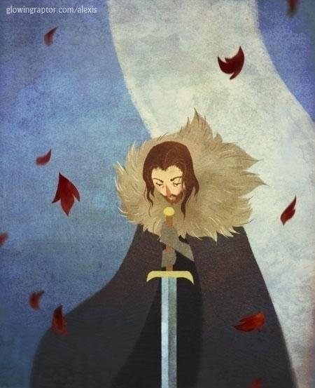 Eddard Stark - illustration, gameofthrones - allytha | ello