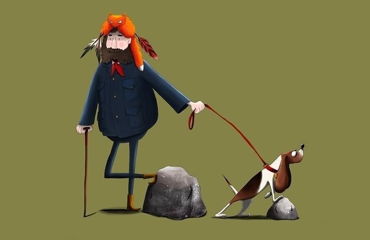 Mountain Man - ilustration, mountainman - cpowell-1234 | ello