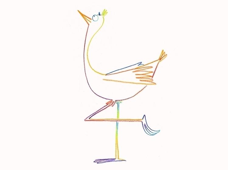 Big bird - illustration, magicpencil - cpowell-1234 | ello