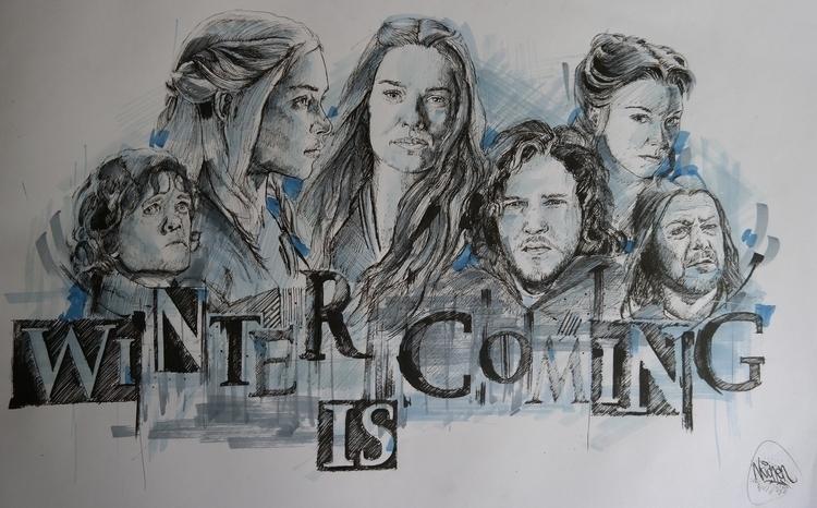 Game Thrones - illustration, gameofthrones - cagataymirren | ello