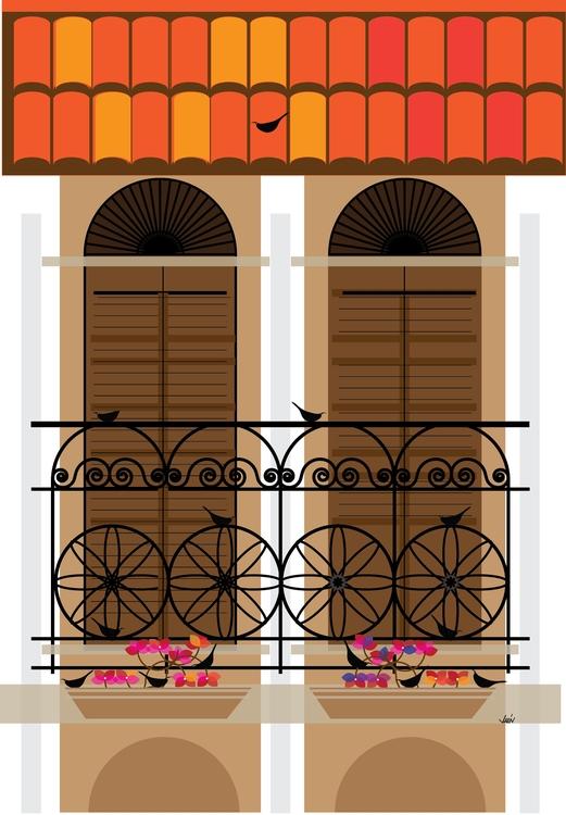Casco Viejo Birds - illustration - manueljaen | ello