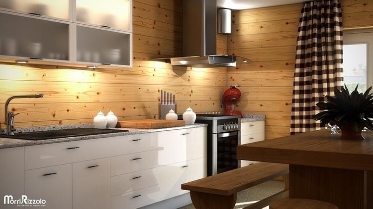3d, 3dinteriordesign, kitchen - morris_rizzolo | ello