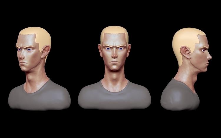 Eminem - eminem, fanart, zbrush - siddp | ello
