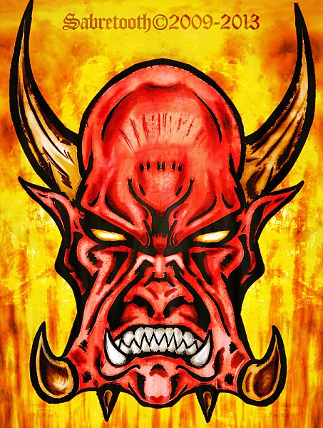 DooM inspired demon illustratio - omgwtflol-1294 | ello